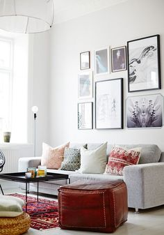 Côté salon : inspiration scandinave via blancgrenade.com