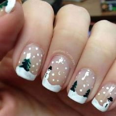 Xmas Nail Art Designs Gallery classy and simple christmas nail art designs for stylish Xmas Nail Art Designs. Here is Xmas Nail Art Designs Gallery for you. Xmas Nail Art Designs 53 sparkling holiday nail art designs to try this christma. Nail Art Noel, Xmas Nail Art, Cute Christmas Nails, Christmas Nail Art Designs, Holiday Nail Art, Xmas Nails, Winter Nail Art, Winter Nails, Christmas Ideas