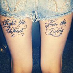 The Walking Dead tattoo quote.  #tattoos #thewalkingdead #walkingdeadtattoos