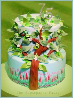 Family tree cake by The Sugarpaste Fairy