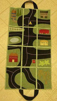 CassandrasEmbroidery.com - Road Play Mat Quiet Time Activities, Preschool Activities, Crafts To Make, Crafts For Kids, Car Play Mats, Transportation Theme, Felt Quiet Books, Busy Bags, Felt Toys