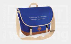 Heritage Messenger bright royal von Jajis-ART auf DaWanda.com