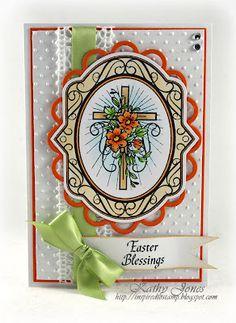Easter Card designed by Kathy Jones using JustRite Easter Blessings