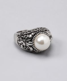 Take a look at this Pearl Fleur-de-Lis Ring by Regal Jewelry on #zulily today!