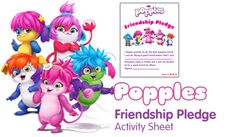 Friendship pledge  - Free Fun Party Popples Printables and Activities | SKGaleana