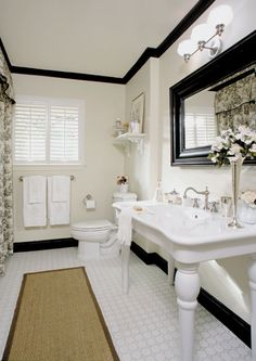 Nice way to make an older home bathroom look great!!