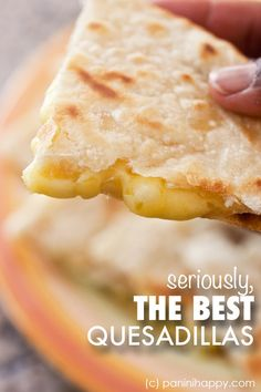 Get the secrets to making restaurant-quality quesadillas at home! #quesadilla #dinner #cheese