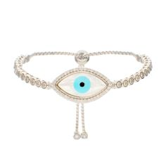 Large Evil Eye MOP Bracelet