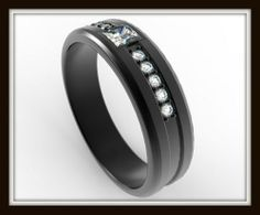 10K Black gold Mens black Diamond Ring Added Touches For HIM On