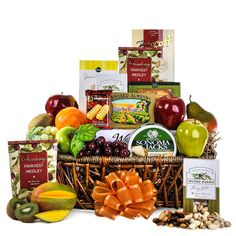 The Merry Mix Up Basket is filled to the brim with healthy fruits and balanced with accompanying treats and a refreshing wine. View product details for complete description. Champagne Gift Baskets, Wine Gift Baskets, Gourmet Gift Baskets, Gourmet Gifts, Basket Gift, Walkers Shortbread Cookies, Fathers Day Baskets, Biscuits Packaging, Different Types Of Wine
