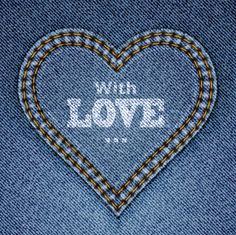 Buy Abstract Blue Jeans Heart on Denim Background by Lamica on GraphicRiver. Abstract blue jeans heart on denim background. Valentine's day greeting card. Blue Jeans, Jeans Bleu, Blue Denim, Denim Jeans, I Love Heart, Just Love, Happy Heart, Love Blue, Blue And White