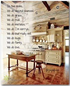 In this home... We do second chances. We do grace. We do real. We do mistakes. We do I'm sorrys. We do loud really well. We do hugs. We do family. We do love.  www.facebook.com/joyofmom