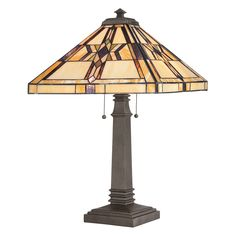 Buy the Quoizel Vintage Bronze Direct. Shop for the Quoizel Vintage Bronze Finton 2 Light Tall Table Lamp with Tiffany Glass Shade and save. Asian Table Lamps, Large Table Lamps, Lamp Table, Light Table, Antique Lamps, Vintage Lamps, Tiffany Style Table Lamps, Best Wall Clocks, Lamps For Sale