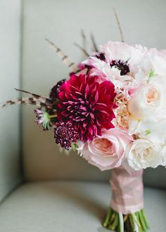 Soft pink with just the right pop of bright // Munster Rose floral design, photography by Canary Grey