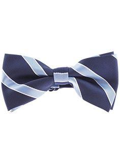 FLATSEVEN Herren Breit Gestreift Fliege Krawatte Pre-Tied Bow Tie (YB003) Blau FLATSEVEN http://www.amazon.de/FLATSEVEN-Herren-Gestreift-Krawatte-Pre-Tied/dp/B00LAZF90K