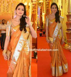 Shilpa Reddy in a kanjeevaram saree photo