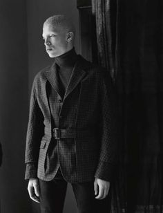 Shaun Ross photographed by David Armstrong for Another Man Magazine Shaun Ross, David Armstrong, Male Magazine, Another Man, Sons, Fashion Photography, Leather Jacket, Albino