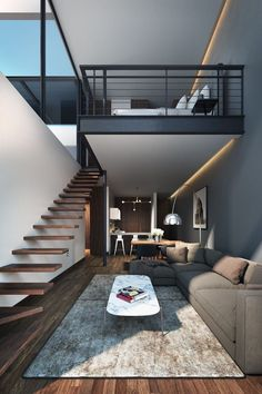 Love this simple but modern combo of metal, wood and texture. By www.myhouseidea.com.