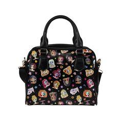 Personalized custom design Sugar Skull Princesses Shoulder Handbag.