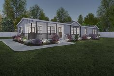 Lulamae double wide home with porch « Buccaneer Homes The farm house Double Wide Remodel, Double Wide Home, The Farm, Home Renovation, Home Remodeling, Double Wide Trailer, Mobile Home Doublewide, Clayton Homes, Calamari