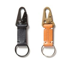 Apolis's Transit Issue Keychain ($38) with its hand-stitched bar tacks, hand-oiled leather, and heavy duty MIL-SPEC hardware.