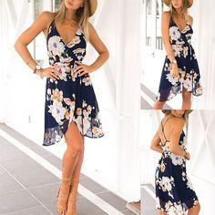 Women-Summer-Boho-Chiffon-Floral-Dress-Maxi-Cocktail-Party-Short-Beach-Sundress