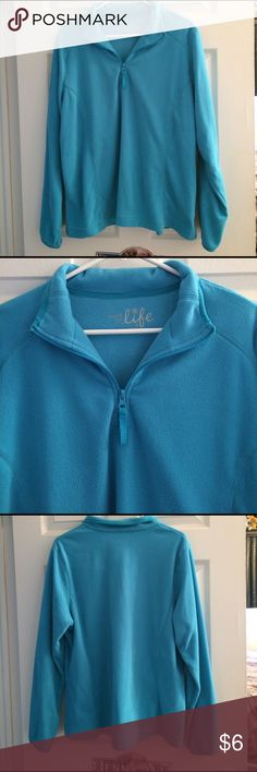 Made For Life Teal Fleece Top Size XL Worn once so it's in excellent condition, super comfy and warm, pretty light teal color made for life Tops Sweatshirts & Hoodies