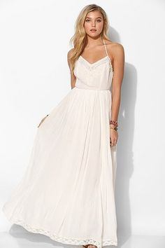 This will be my wedding dress, LOVE IT Kimchi Blue Dove Crinkle Gauze Maxi Dress - Urban Outfitters