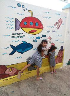 Murales infantiles de Assilah Surfboard, Painting, Mural Painting, Murals, Creativity, Painting Art, Paintings, Drawings
