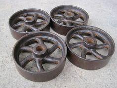 Antique Cast Iron Scale Wheels