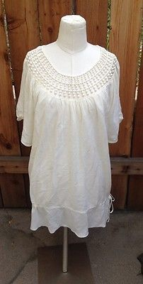 Pretty Nine West cream colored top, sz XL, pair with jeans for nice casual look!