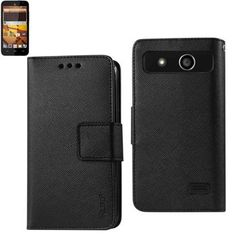 Reiko Wallet Case 3 In 1 For ZTE Speed N9130 Black With Interior Polymer