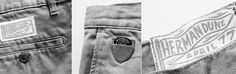 Guitar Pick Pocket! For April77 veg/eco men's jeans