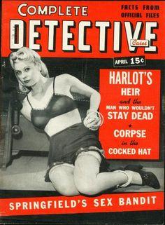 Complete Detective Cases - April, 1942 Damsels In Peril, Pulp Magazine, Magazine Covers, Star Gossip, 1940s Woman, Vampire Bites, Bizarre Art, Dark Material, Damsel In Distress