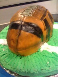 I made this cake for a big Bengals fan!