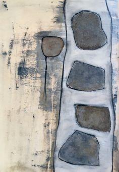 Structuur?, schilderij van Atelier Landfort, Sabrine Swanenberg-van Gelder   Abstract   Modern   Kunst
