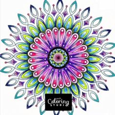 These coloring pages will put you in a trance. | Posh Coloring Studio