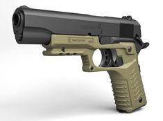 Recover Tactical Grip & Rail System For 1911 & Beretta Pistols 1911 Pistol, Picatinny Rail, Firearms, Hand Guns, Pistols, Weapons, Revolvers, Shotguns