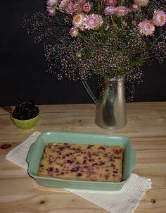 Coisas simples são a receita ...: Clafoutis de cereja e mascarpone