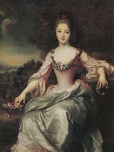 1720 Marie Anne de Bourbon Condé by Gustaf Lundberg (auctioned by Nordén Auktioner)