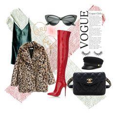 """Başlıksız #12"" by minaoguz on Polyvore featuring moda, Leka, Henri Bendel, BP., Velour Lashes ve Chanel"