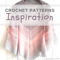 Free crochet pattern of this shawl can be found on wilmade.com