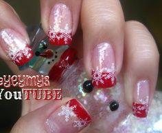 christmas snow nail art