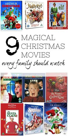 Christmas movies that every family needs to watch over the festive period. Christmas films for families. Childrens Christmas films.