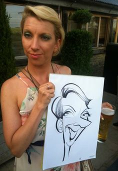 Wedding caricatures at Cripps Barn