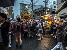 Asakusa/Torigoe Matsuri 1/13 Asakusans love a good matsuri so when Torigoe Jinja shrine (south of Asakusa near Kuramae) has its annual celebration they rush in to help -even if it rains heavily! #Asakusa, #Torigoe, #matsuri, Taken on June 7, 2014. © Grigoris A. Miliaresis