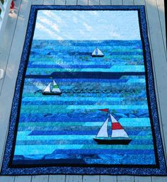 Boat Quilt Fabric | Sailboat quilt #2-sailboat-two.jpg