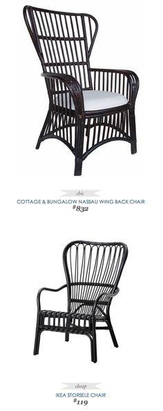 #CopyCatChicFind #Cottage Nassau Wing Back Chair $832 - vs - #Ikea Storsele Chair $119