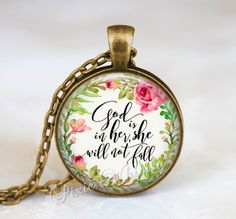 Hey, I found this really awesome Etsy listing at https://www.etsy.com/listing/481441329/bible-scripture-necklace-god-is-in-her