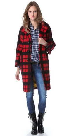 DSQUARED2 Plaid Coat | SHOPBOP